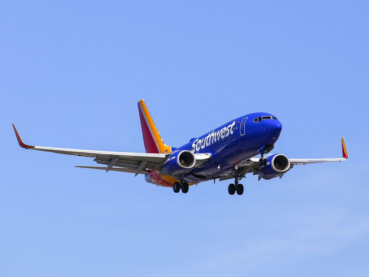 Un avión Being 737 de Southwest Airlines.