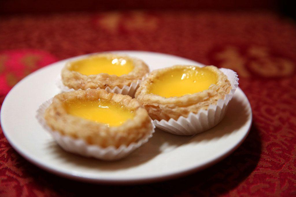 Egg custard tart at Kirin Court, a dim sum restaurant, in Richardson.