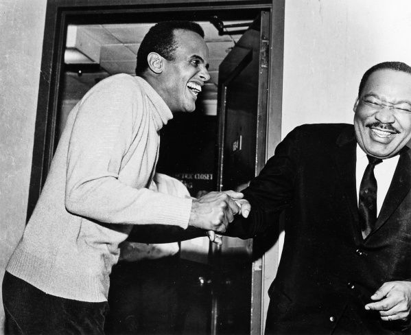 Belafonte was in the forefront of the civil rights movement, working closely with the Rev. Martin Luther King Jr.