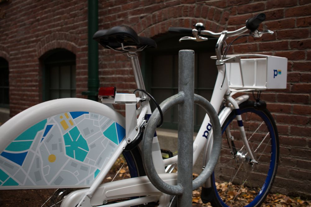 This is how Zagster envisions people using Pace bikes — locking them up at a bike rack