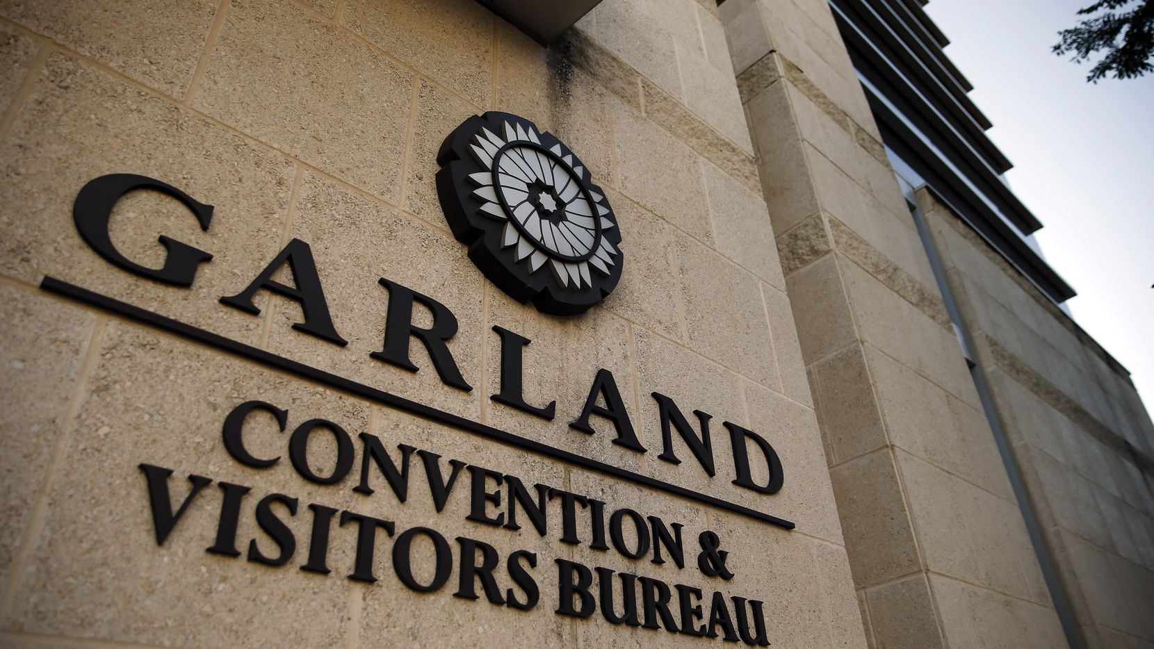 An exterior view of the Garland Convention and Visitors Bureau in downtown Garland, Texas, Friday, June 26, 2020.