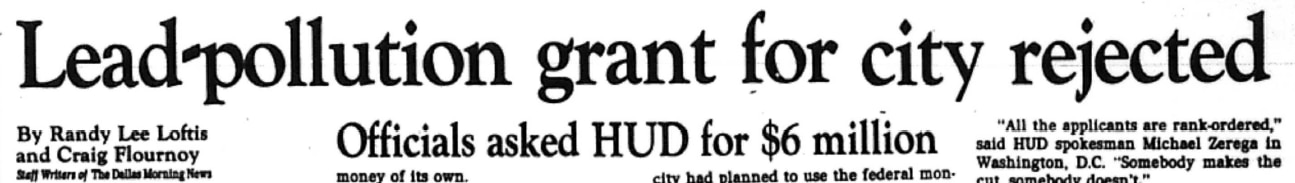 Nine days after The News reported on the city's grant application, HUD announced the names of the recipients.