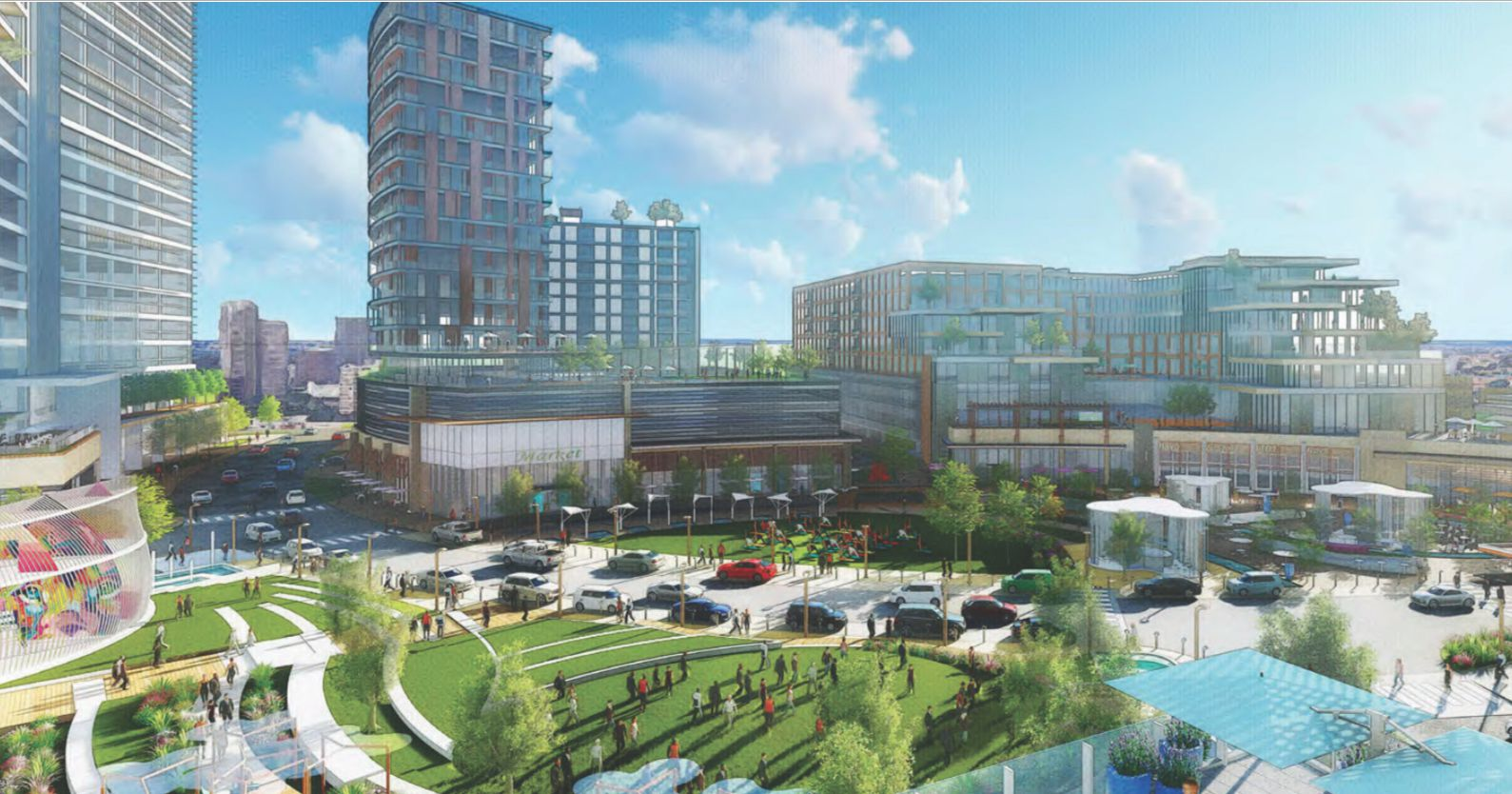 The planned Park Heritage at Midtown development would include more than 1.5 million square feet in a mixed-use development.
