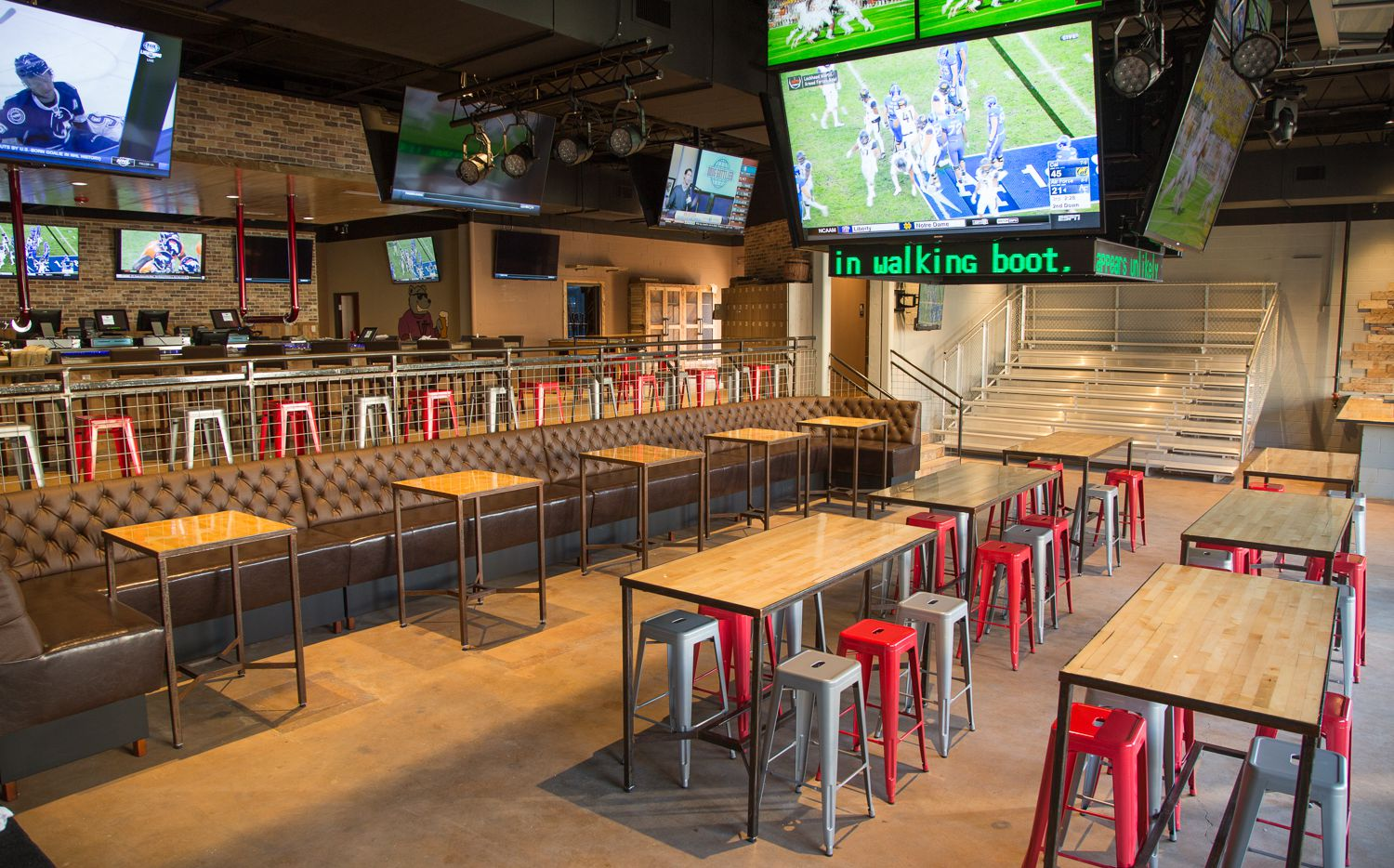 The interior of Varsity Tavern, which opened on New Year's Eve.