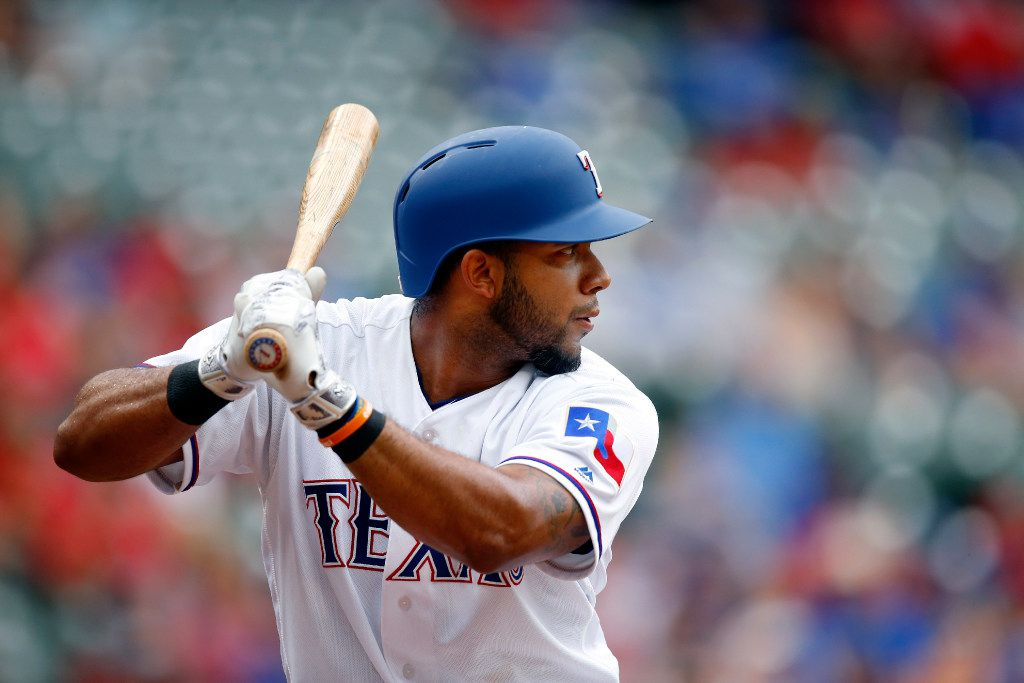 Texas Rangers batter Elvis Andrus (1) waits on a pitch by the Toronto Blue Jays at Globe Life Park in Arlington, Thursday, June 22, 2017. (Tom Fox/The Dallas Morning News)
