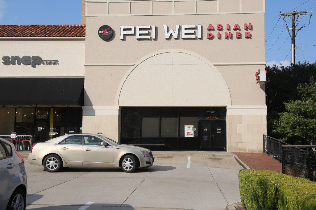 Exterior of the Pei Wei Asian Diner at Uptown Plaza on McKinney Ave in Dallas photographed Tuesday August 7, 2017