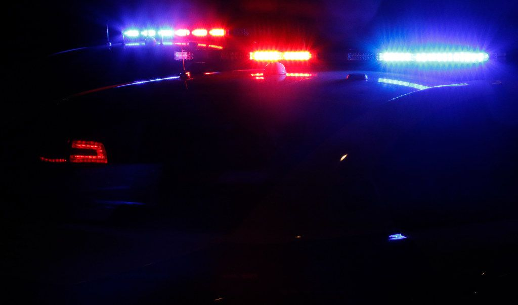 STOCK - Dallas Police car Police car Flashing lights Police tape Stock Fire truck DFD DPD
