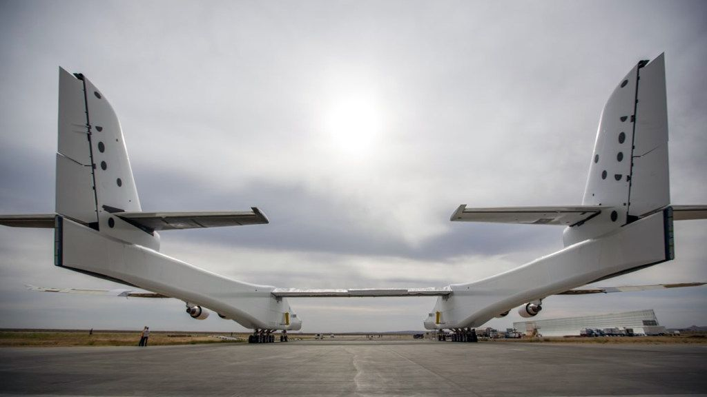 The Stratolaunch aircraft is powered by six engines of the same type used in Boeing 747s.