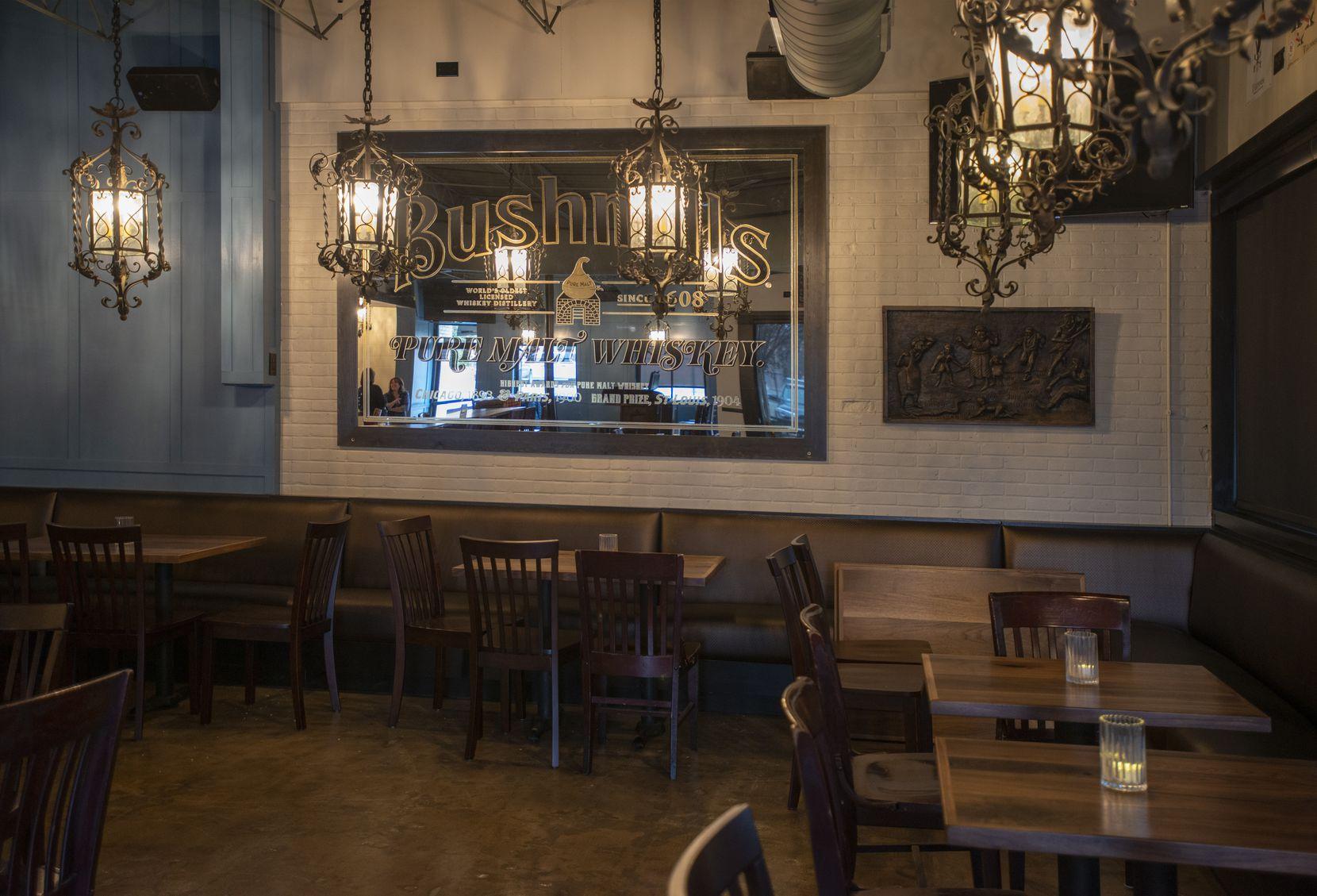 Lochland's has a cozy, dimly-lit interior.
