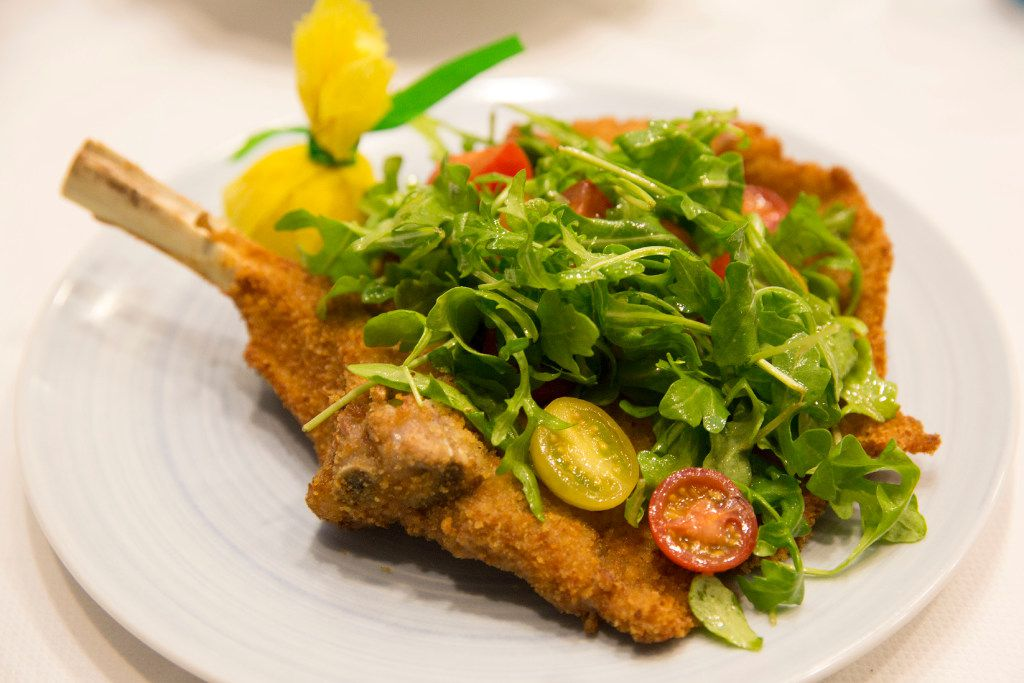 Dolce Riviera's fish and meats -- such as veal Milanese -- tended to be less sloppy than the pastas.