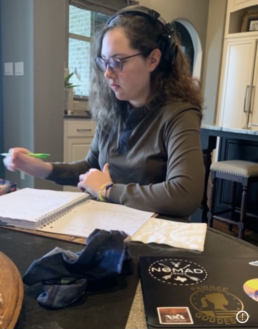 Camille Cashen, a freshman at Denton Guyer High School, says the state should cancel the STAAR tests because of the difficulties of schooling in the coronavirus era.