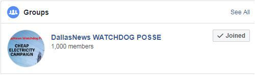 Our Watchdog Posse group on Facebook has 1,000 members.