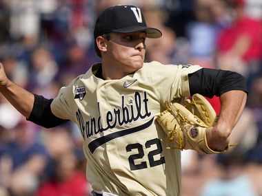Vanderbilt pitcher Jack Leiter delivers during an NCAA baseball game against Mississippi at Swayze Field on Saturday, May 15, 2021, in Oxford, Miss.