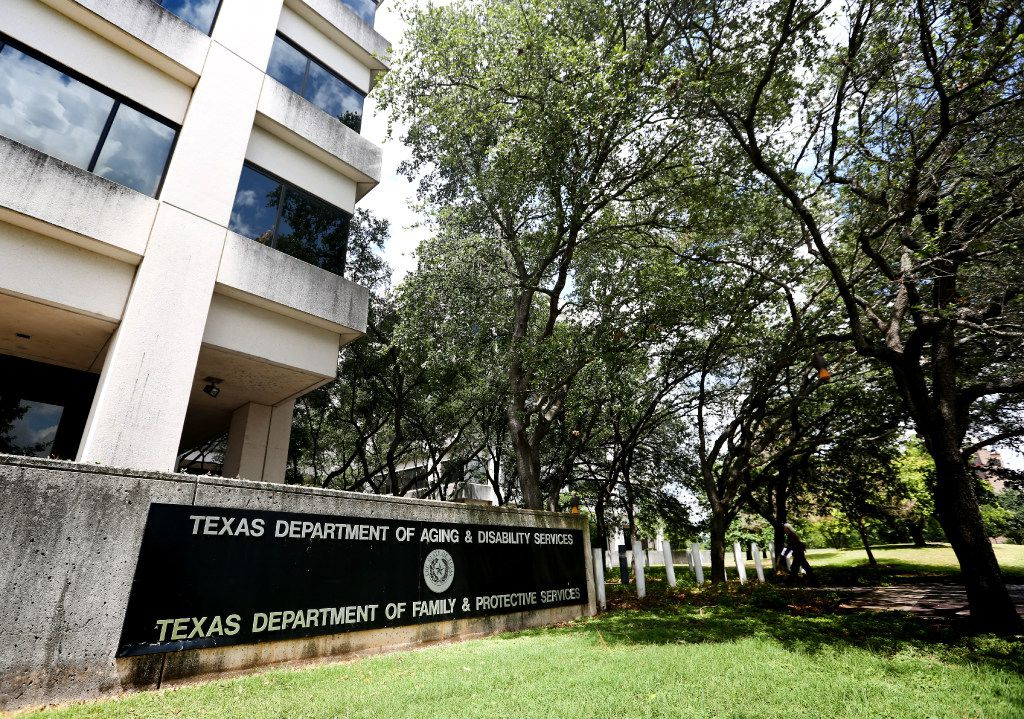 Exterior of Texas Department of Family and Protective Services in Austin.