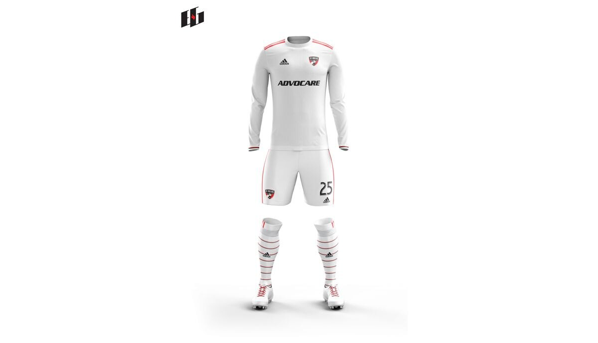 Burn Inspired Throwback FC Dallas secondary kit concept by William Geddes
