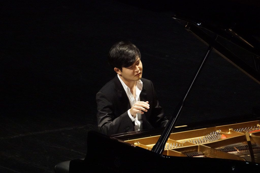 Van Cliburn International Piano Competition winner Yekwon Sunwoo performs at the Bass Performance Hall in Fort Worth Tuesday, Oct. 3, 2017.