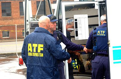 ATF agents work an investigation at an undisclosed location.
