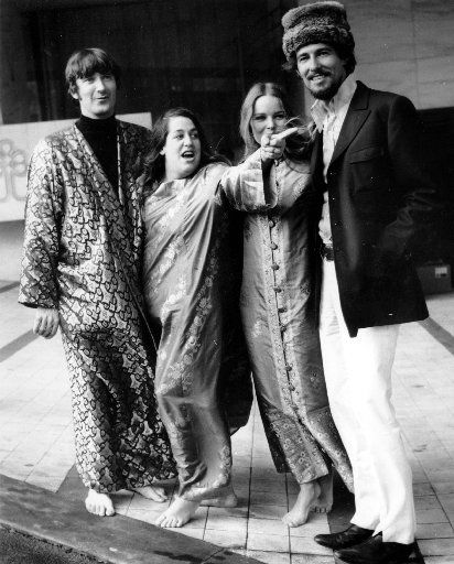 The Mamas and the Papas,  left to right, Denny Doherty, Cass Elliot, Michele Gilian, and John Phillips, seen here in this Oct. 6, 1967 photo(AP Photo/Kemp)