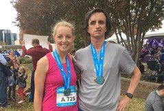 Dallas' Elizabeth Wellborn helped guide William Greer, a legally blind runner, complete his 15th marathon in a personal best time at last month's BMW Dallas Marathon.