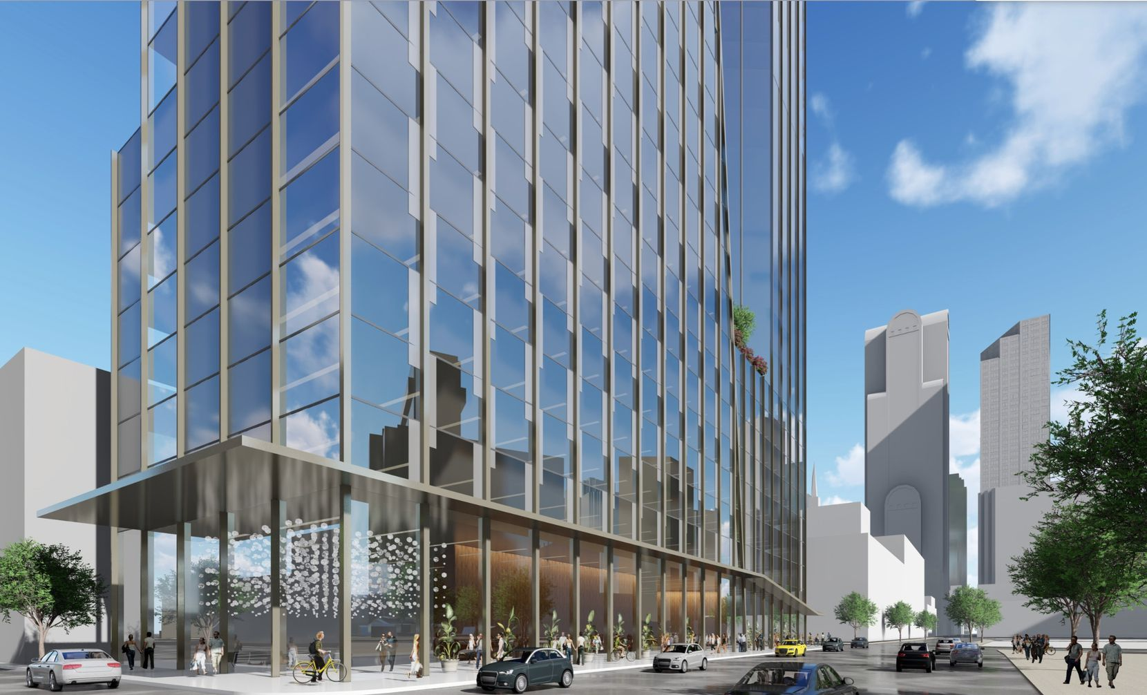 Dallas property developer and investor Scott Rohrman's 42 Real Estate is working on plans for a two-building skyscraper project at Elm and Pearl streets in downtown Dallas. A street view of the project.