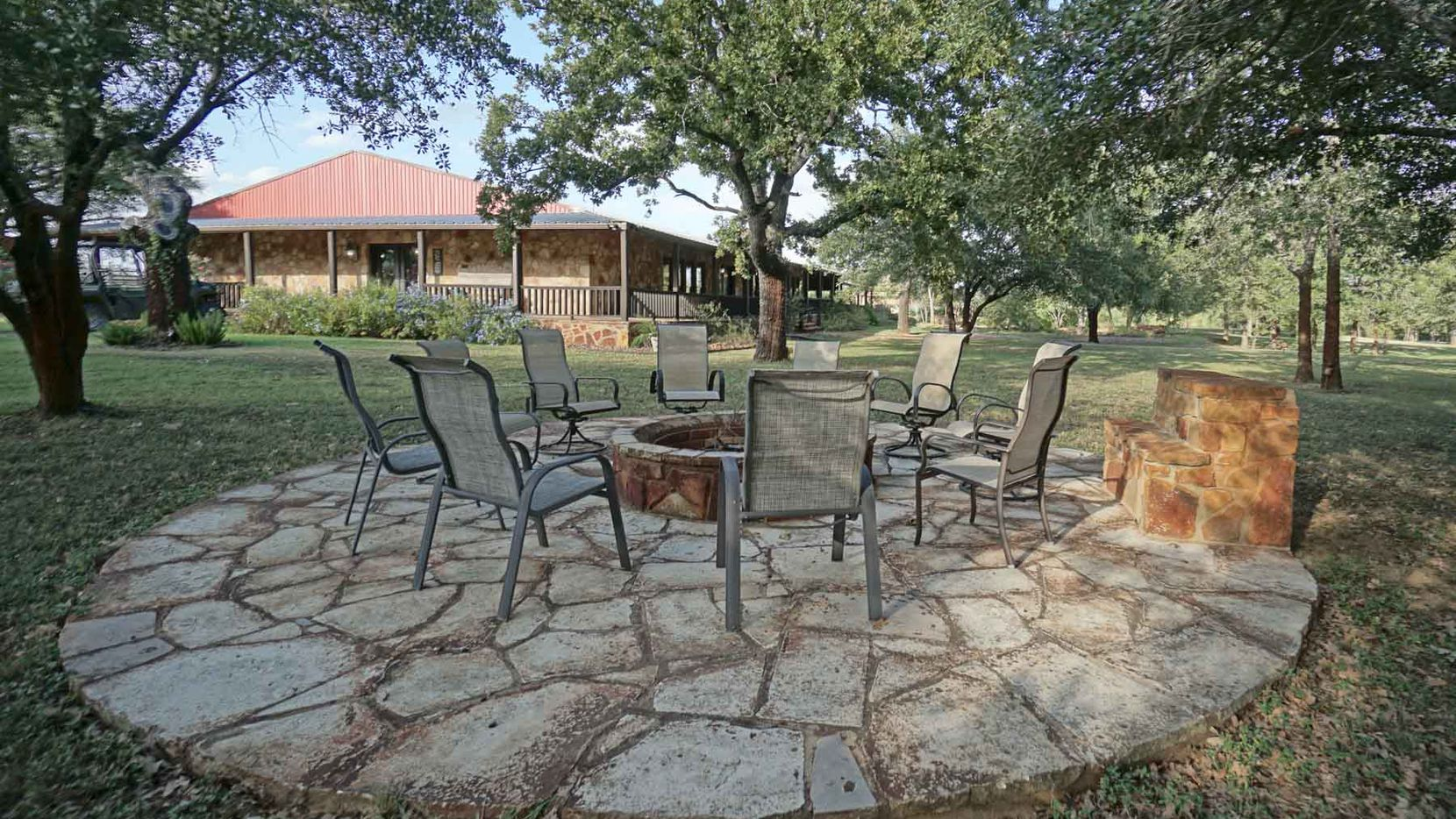 Tje ranch between Austin and Houston has 20 guest suites.