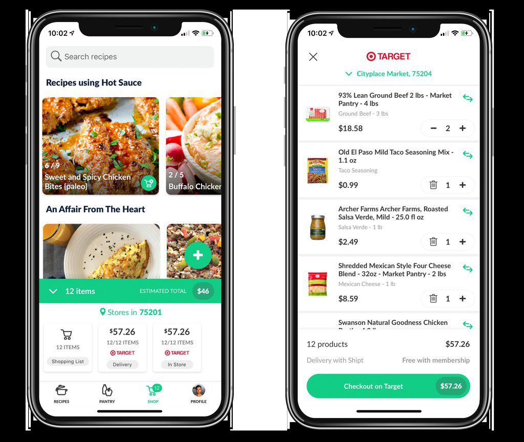 Dallas-based Cooklist's app can connect to customer purchases at 77 grocery chains nationwide to create a digital pantry.