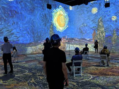 """""""Starry Night"""" is one of the Dutch artist's paintings that has been deconstructed and rebuilt as video projections for """"Immersive Van Gogh Exhibit,"""" part of the first wave of a new kind of entertainment coming to Dallas."""