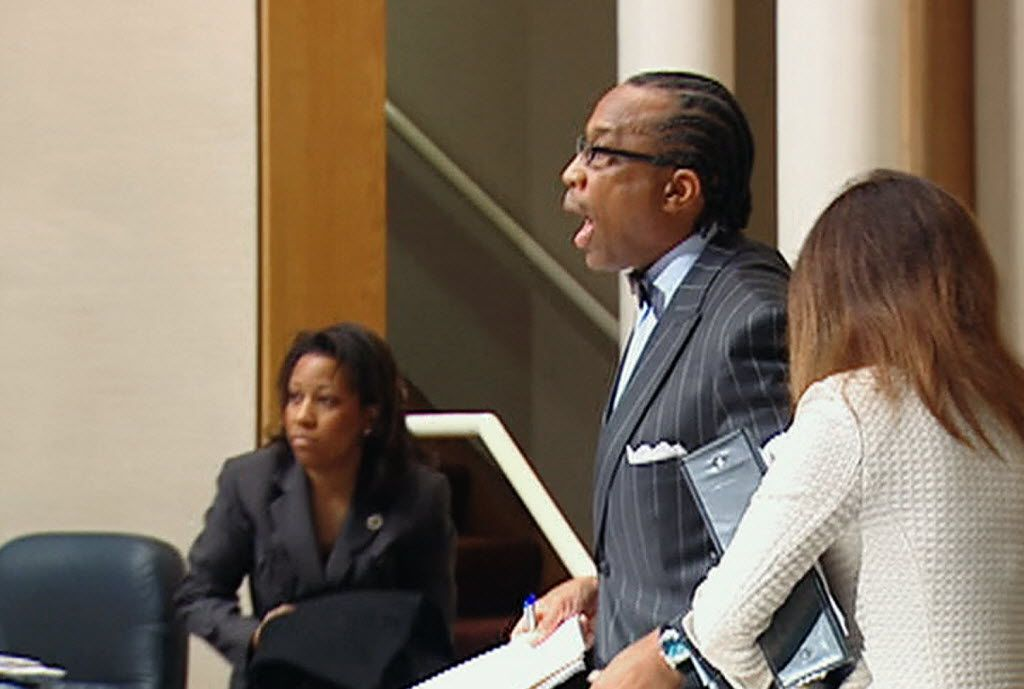 """During a 2011 meeting, Dallas County Commissioner John Wiley Price yelled at members of the crowd, """"All of you are white. Go to hell."""""""