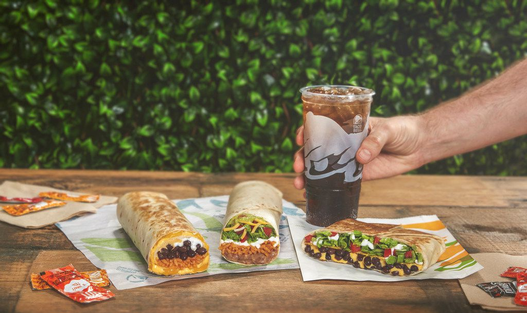 Taco Bell is announcing a new vegetarian menu that will be tested in Dallas starting April 4, 2019. Items include a vegetarian Quesarito, 7-Layer Burrito and a vegetarian Crunchwrap Supreme.