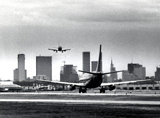 Dallas  Love Field airport in 1979. This is before Southwest Airlines signed a lease for its headquarters at Love Field.