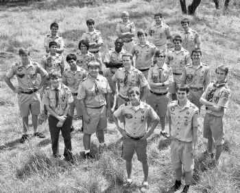 Just over half the members of this year's graduating class at Cistercian Preparatory School in Irving are Eagle Scouts. Front row, from left: Dean Leonard, Mark Hartman and Ron Hammond. Second row: Daniel Pruit, Will Venden, Marty Gatens, Alec Radford and Alex Eddy. Third row: Kris Pedigo, Ryan Martinez, David Venincasa, Andrew Skaras, George Adesanya, Nicholas Petersen and Jack Bobzien. Back row: Andres Trejo, Kevin Blonien, Graham Albert, Clay Tillotson and Brendan Woods. Not pictured are Zach Barnes and Isaac Johnston.