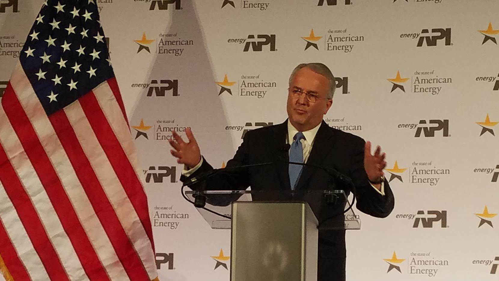 "American Petroleum Institute president Jack Gerard bemoaned the ""regulatory onslaught of the last few years."" (Tom Benning/Staff)"
