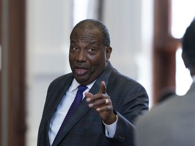 Dallas, area delegation to the Texas Senate, includes Sen. Royce West, D-Dallas in action during May, 2021 of the the 87th Texas Legislative Session.
