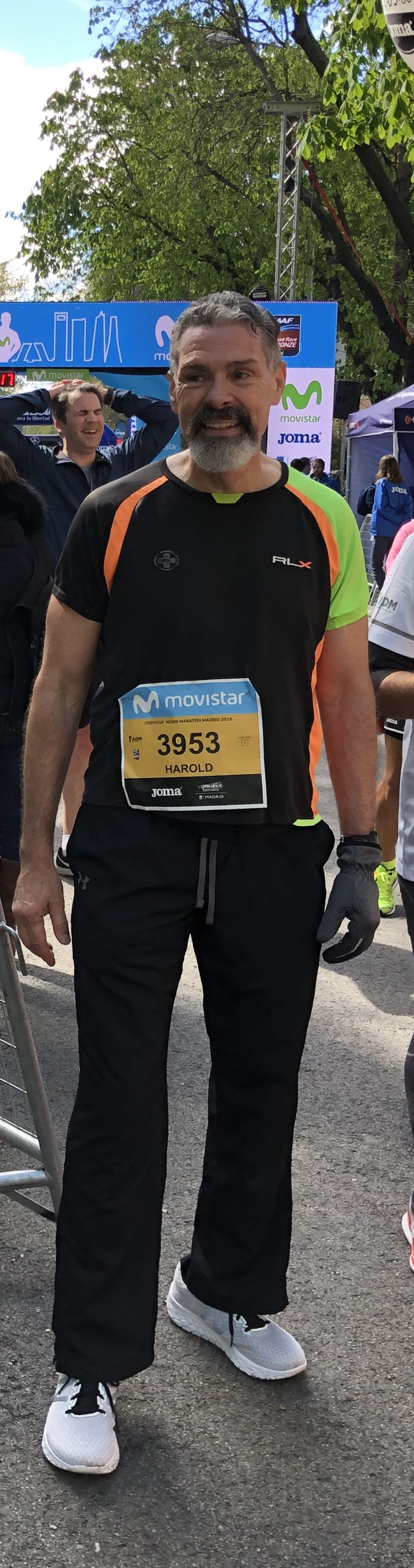Harold Recinos at the Madrid half-marathon on April 7, 2019. He ran the race in honor of his brother who passed away on April 7, 1985.