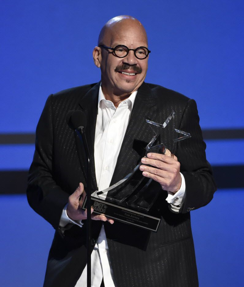 Tom Joyner accepts the humanitarian award at the BET Awards at the Microsoft Theater on Sunday, June 28, 2015, in Los Angeles. 06302015xARTSLIFE