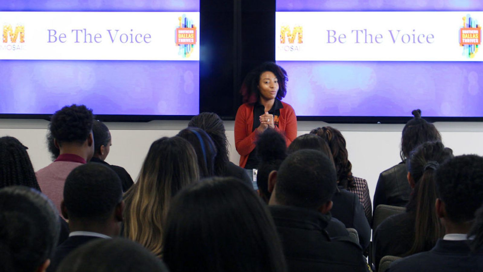 Adria Toliver Lemelle, human resources manager at Frito-Lay, grew up in southern Dallas and helped lead the Frito-Lay event that mentored nearly 50 high school students from southern Dallas-area high schools.