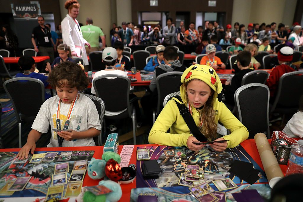 Contestants compete during the 2016 Pokemon World Championships on August 19, 2016 in San Francisco, California. Over 1,600 contestants from more than 30 countries are competed in tournaments.