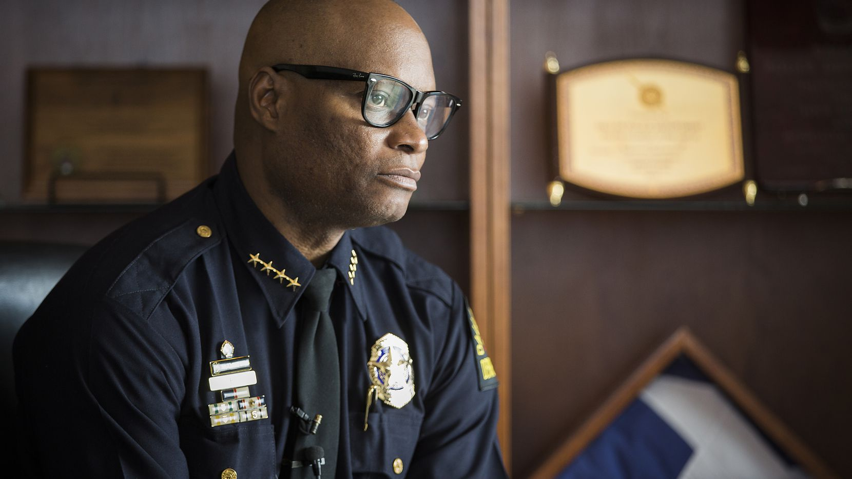 Dallas Police Chief David Brown photographed during an interview at DPD headquarters on Nov. 13, 2015.