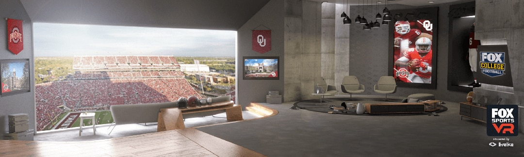FOX Sports' virtual reality suite will offer a 180-degree panoramic view of the field Saturday during No. 3 Ohio State and No. 14 Oklahoma.