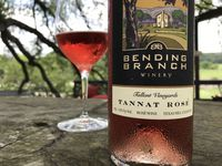 Bending Branch Winery's Tannat Rose wine, with grapes from Tallent Vineyards.