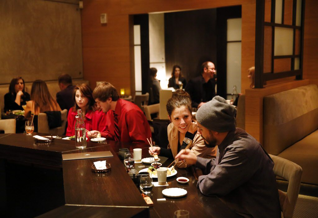 Diners at Tei-An's counter