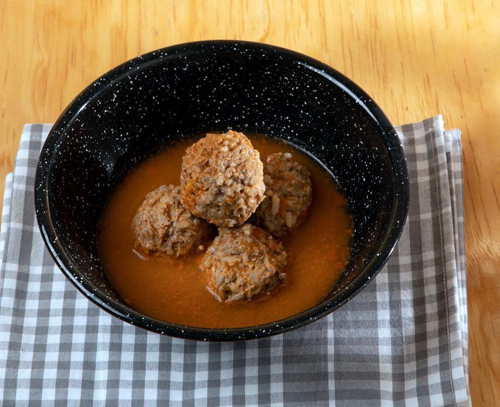 Albóndigas de arroz y carne. Un plato sencillo de preparar y de costo económico (AGENCIA REFORMA)