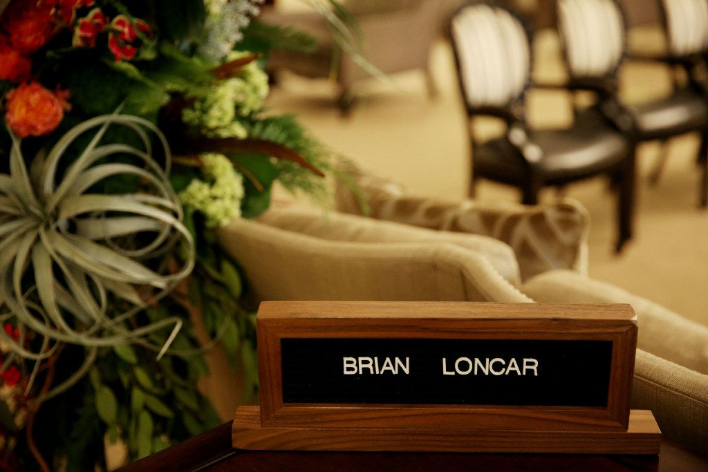 Inside the visitation for Brian Loncar at Sparkman Hillcrest Funeral Home in Dallas Thursday December 8, 2016. Loncar was found unresponsive on Sunday morning, just two days after he buried his daughter Grace Loncar. (Andy Jacobsohn/The Dallas Morning News)