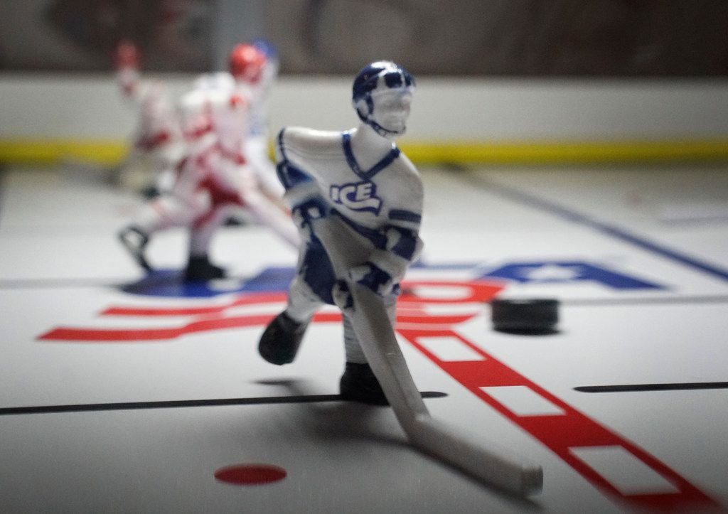 After years of decline, bubble hockey has once again become a popular arcade game in Texas. Probably because of how cute these little dudes are.