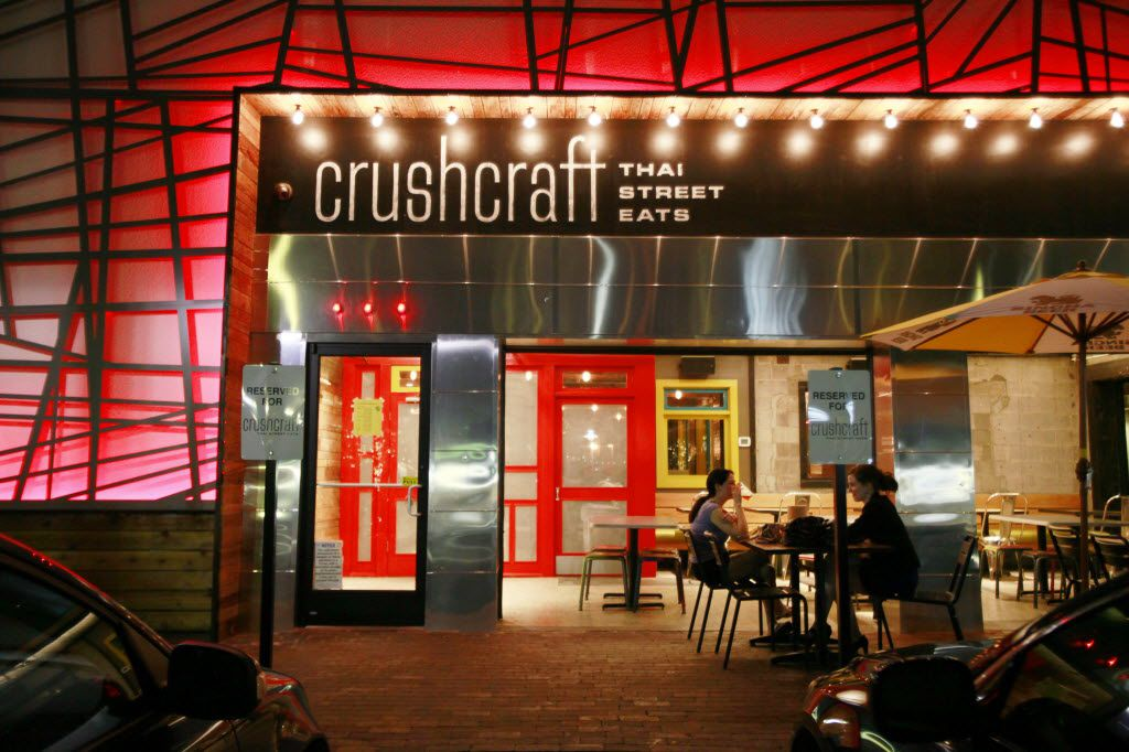 The main entrance patio at the Thai restaurant CrushCraft, on Friday, May 09, 2014 in Dallas. Ben Torres/Special Contributor