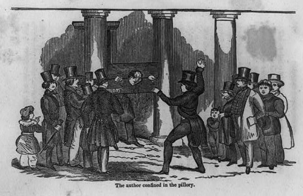 Centuries ago, people who misbehaved were pilloried when they were put into stocks, as this 1845 illustration from the Library of Congress shows. Watchdog Dave Lieber got a dose of that when he made a common consumer error.