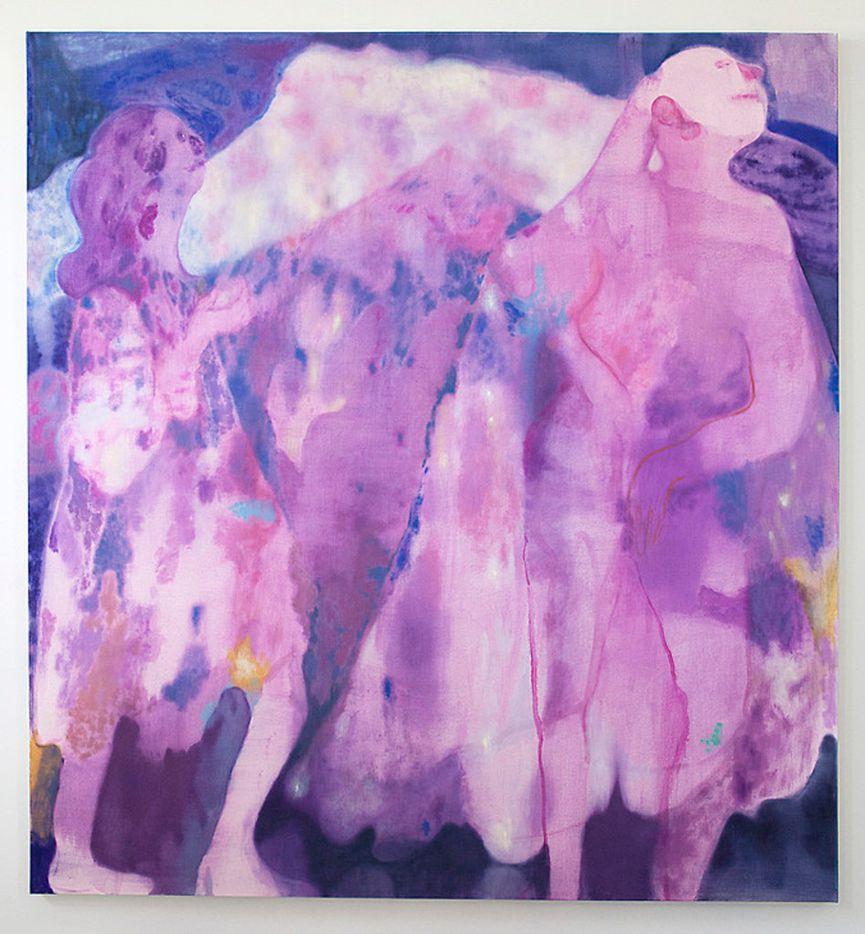 Maja Ruznic Azmira's Daughters, 2018; oil on canvas