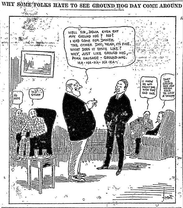 A cartoon from a 1916 edition of The Dallas Morning News