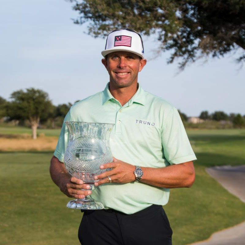 JJ Killeen, the director of instruction at 4ORE! Golf, shot a 3-under 141 to win the NTPGA's Joyce Crane Veritex Bank Section Championship on Wednesday, Sept. 22, 2021, at Midland Country Club.