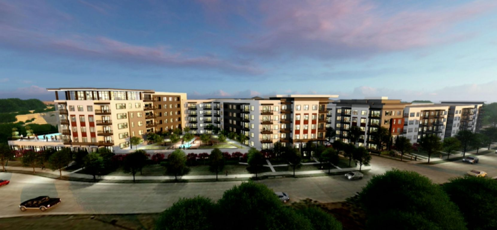 A concept plan for Kairoi Residential's planned Plano apartments.
